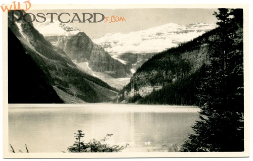Real Photo Postcard of Lake Louise by Byron Harmon