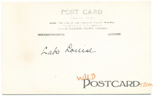 Back of Lake Louise RPPC
