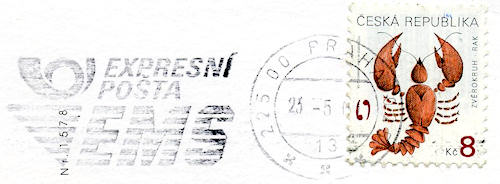Postmark from Prague, Czech Republic