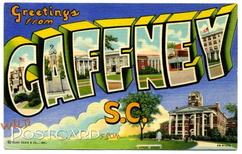 Greetings from Gaffney, South Carolina