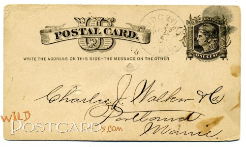 Postal card for Charles J. Walker & Co., Portland, Maine
