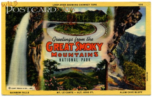 Greetings from the Great Smoky Mountains National Park