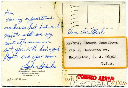 Air Mail from Sonny, my first cousin twice removed, to Grandma