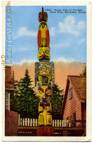 Totem Pole of Thlinget Chief Kian, Ketchikan, Alaska