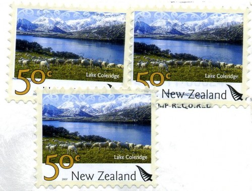 New Zealand Stamps featuring Lake Coleridge