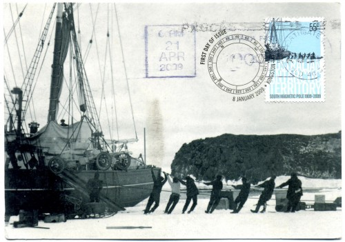 Unloading Antarctica's first motor vehicle from the Nimrod
