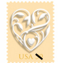 USA 2009 Wedding Stamp 59¢
