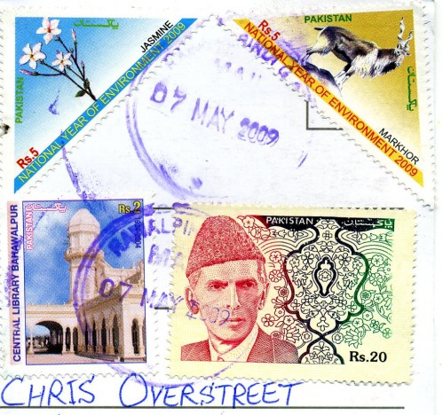 An Assortment of Pakistani Postage Stamps