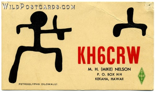 QSL Card from KH6CRW, 7 May 1960