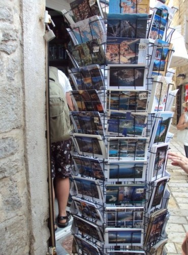 Rack of Postcards in Budva, Montenegro
