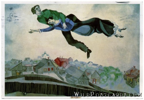 """Over the Town"" by Marc Chagall"