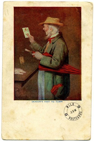 An early postcard collector