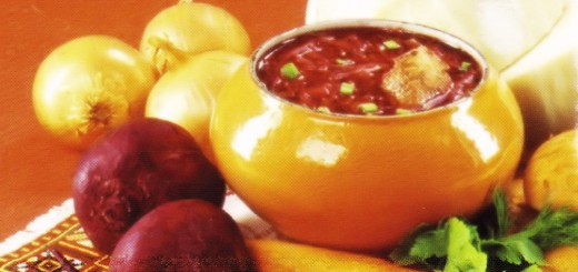 Borscht Recipe Russian Postcard (Detail)