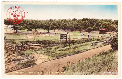 Putting Green, Wells Next the Sea Vintage Postcard