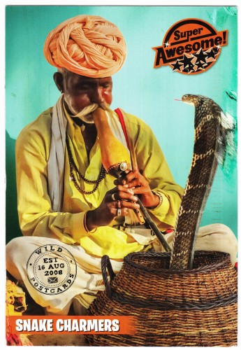 Snake Charmer Super Awesome Postcard