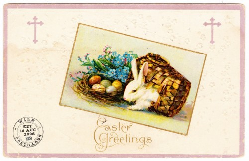 Easter Greetings 1912 Vintage Postcard