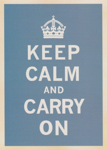 Keep Calm Dark Blue (T01)