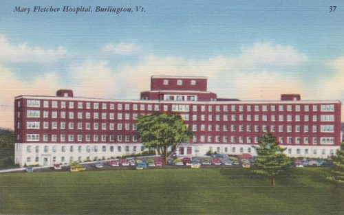 Mary Fletcher Hospital, Burlington, VT (1940s, Linen) (G13)