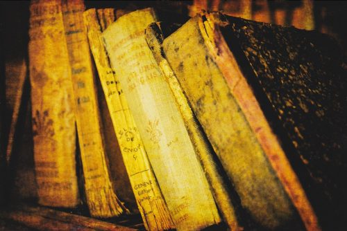 Old Worn Books in French (E09)