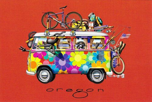 Oregon: VW Hippie Bus (C01)