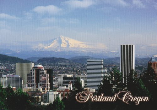Oregon: Portland Skyline, Mt. Hood (C03)