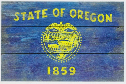 Oregon State Flag - Barnwood Painting (I30)