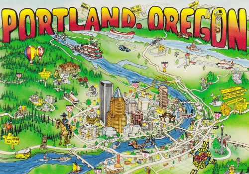 Oregon: Portland Illustration (C15)