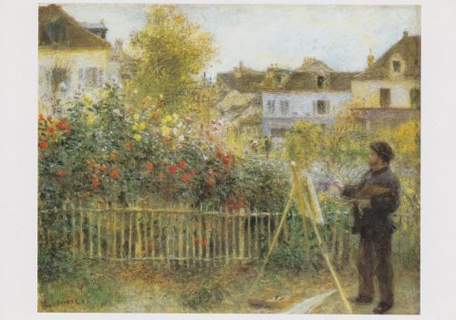 Renoir - Monet Painting in His Garden (J08)