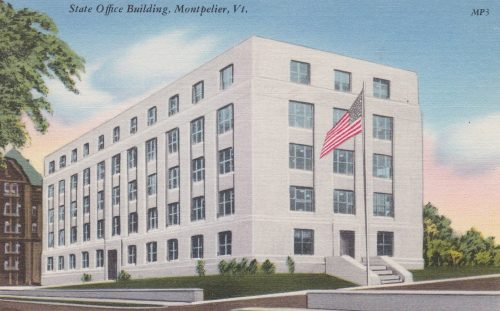 State Office Building, Montpelier (1940s, Linen) (G01)