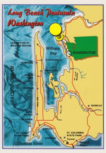 Washington, Long Beach Peninsula Map (E20)